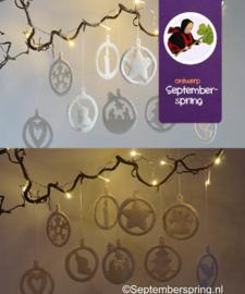 Patroonblad Kerst ornamenten