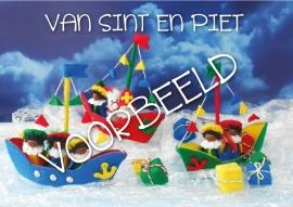 Ansichtkaart  van Sint en Piet   10 stuks
