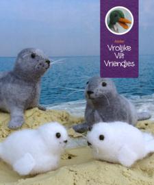 Grijze zeehonden met jongen