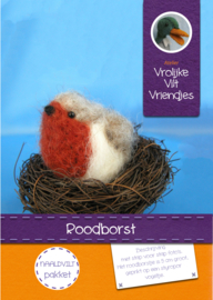 Roodborst met nest