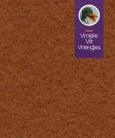 Dik bruin wolvilt lap 40-60 cm