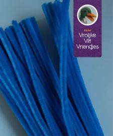 Chenilledraad blauw 30 cm