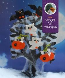 Halloween uiltjes met  zwarte boom
