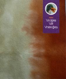 Sprookjesvilt  bruin- beige (hertjes)
