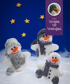 Sneeuwpopjes uit het boekje vrolijke vilten vriendjes