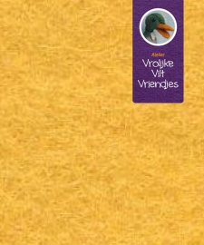 Dik goudgeel wolvilt lap 30 -40
