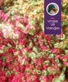 Wol groen roze-rood