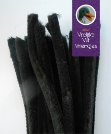 Chenilledraad zwart 50 cm