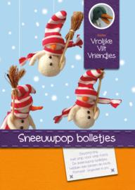 Sneeuwpop bolletjes met streep muts