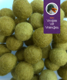 Wolbal mos-olijfgroen