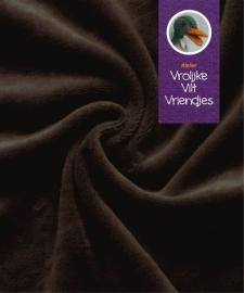 Nickey velours bruin