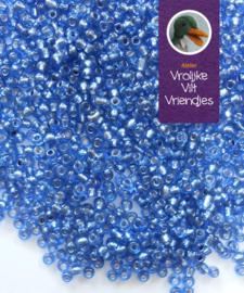 Rocailles blauw zilverkern