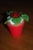 Cupcake lieveheersbeestje op klaverblad