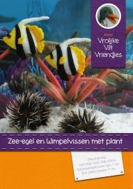 Wimpelvissen, zee-egels en plant