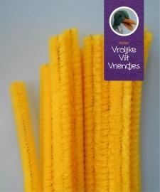 Chenilledraad geel 50 cm