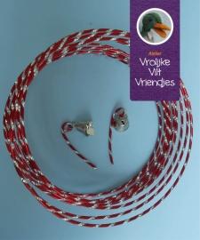Wire rood- zilver met klokjes