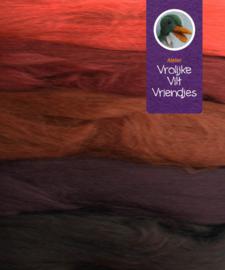 Merino lontwol 5 kleuren