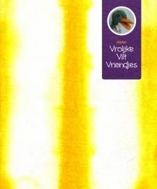 Sprookjes geel- wit randen