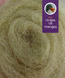 Gekaarde bheda wol beige/groen