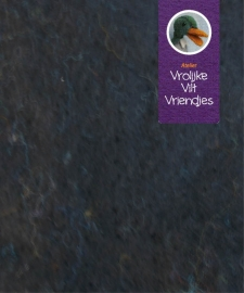 Dik  zwart wolvilt 40-60 cm