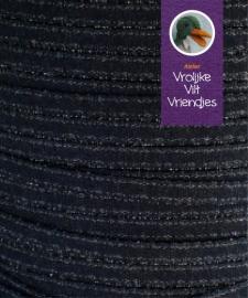 Satijnlint met silverline diverse kleuren