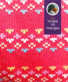 Gebreide tricot rood