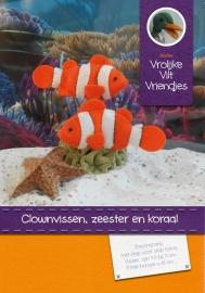 Clownvissen,zeester en koraal
