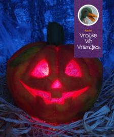 Halloween pompoen met rode verlichting