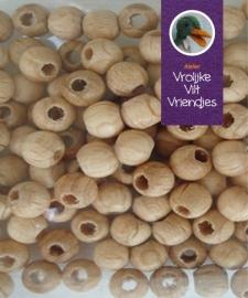 Blank houten kralen 6 mm