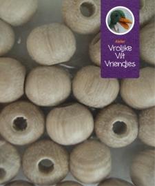 Blank houten kralen 18 mm (8 stuks)