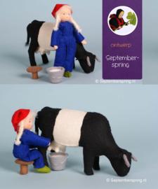 Materiaalpakket Boerin, koe melken zonder patroon