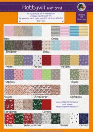 Hobbyvilt kleurenkaart PDF