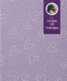 Hobbyvilt lila, paars, glitter harten