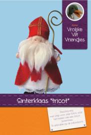 Sinterklaas tricot 12 cm
