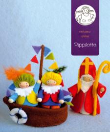 Sinterklaasboot met Sint en Pieten