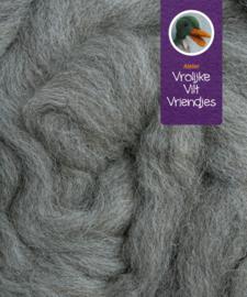 Lontwol natuur gemêleerd grijs