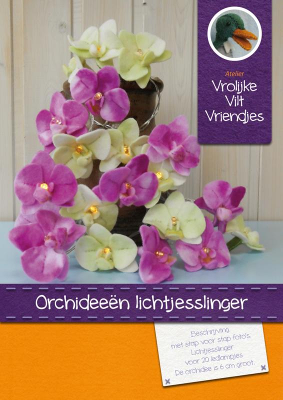 Orchideeën  lichtjesslinger excl. ledlampjes