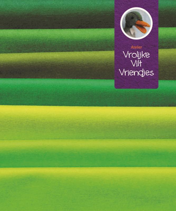 Wolvilt pakket groen tinten