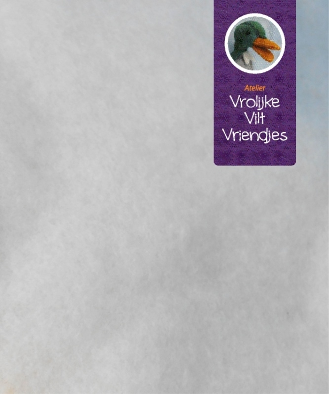 Naaldvlies dun wolwit