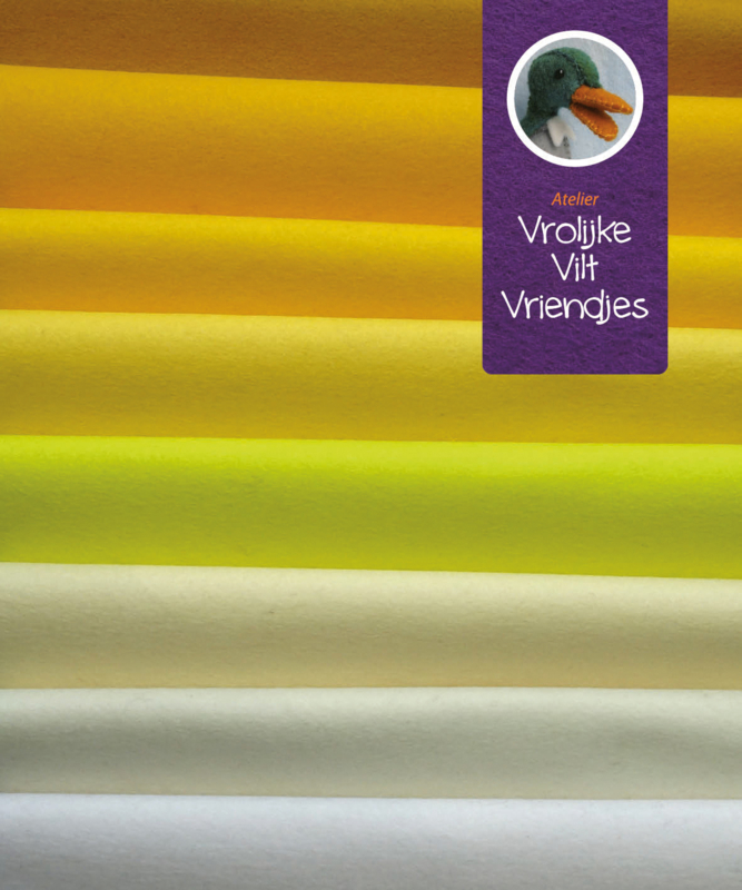 Wolvilt pakket geel- wit tinten