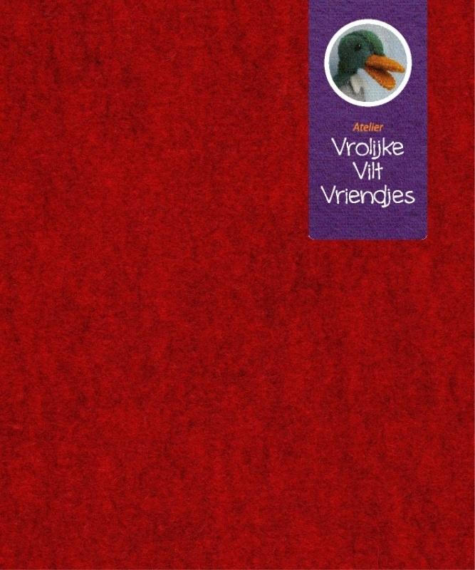 Rood gemêleerd wolvilt