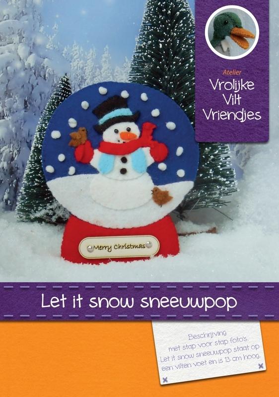let it snow sneeuwpop te maken als hanger of staander