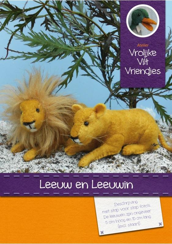 Patroonblad Leeuw en leeuwin