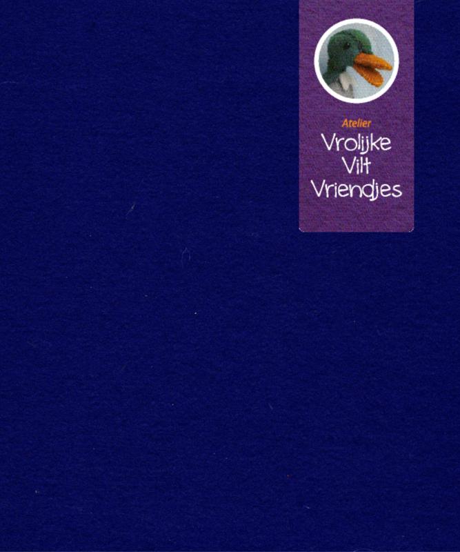 Blauw donker wolvilt nr. 40