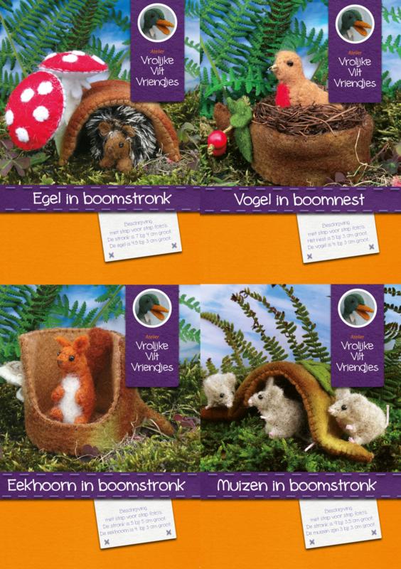 Vier bosdieren pakketten