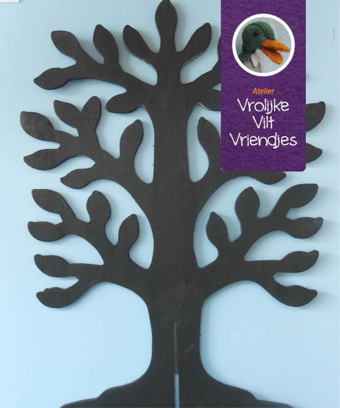houten boom zwart