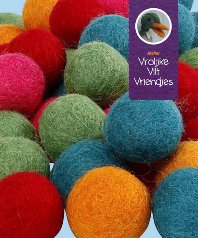 Wolbal 64 stuks sterke kleuren