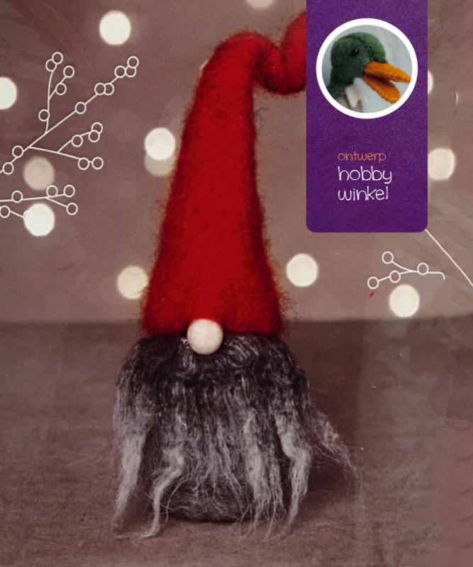 Kerstkabouter grijze baard