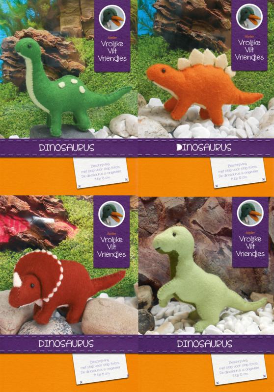 Vier dinosaurus pakketten
