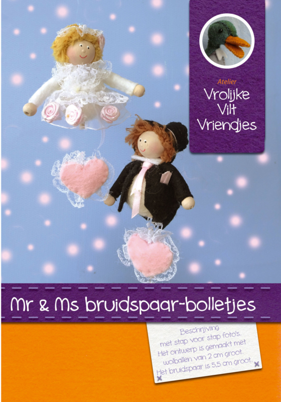 Ms en Mr bruidspaar
